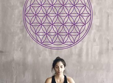 Blume des Lebens Wandtattoo heilige geometrie aufkleber bedeutung